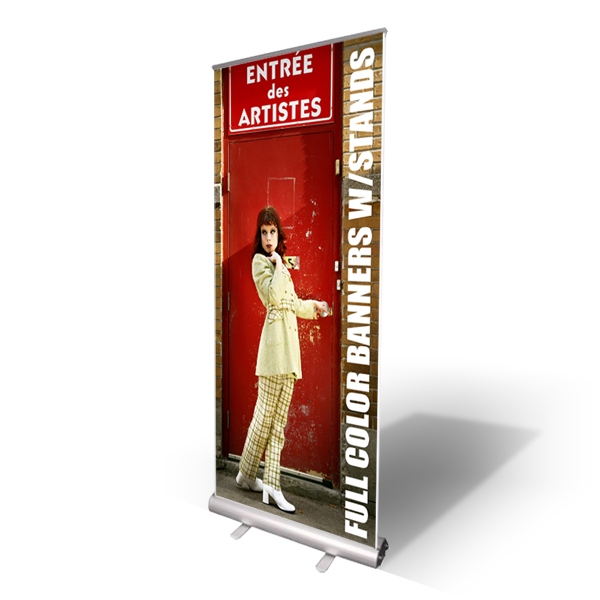 10mil Indoor Vinyl Banner with Aluminum Retractable Stand