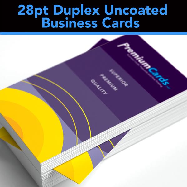 28pt Duplex Uncoated Business Cards
