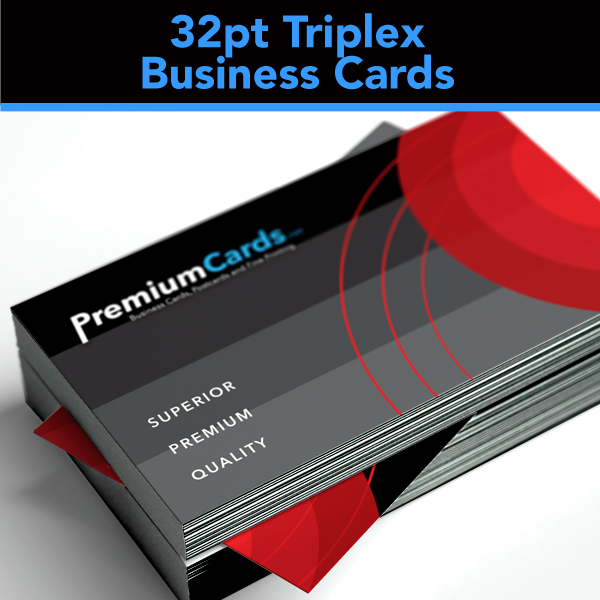 32pt triplex business cards 35x2 premiumcards 32pt triplex business cards colourmoves Gallery