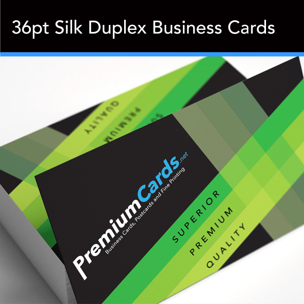 36pt Silk Duplex Business Cards 3 5x2 Premiumcards Net