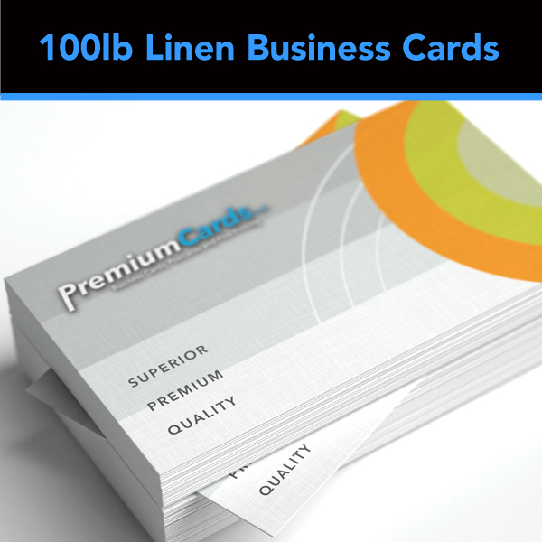 100lb linen uncoated business cards - Linen Business Cards