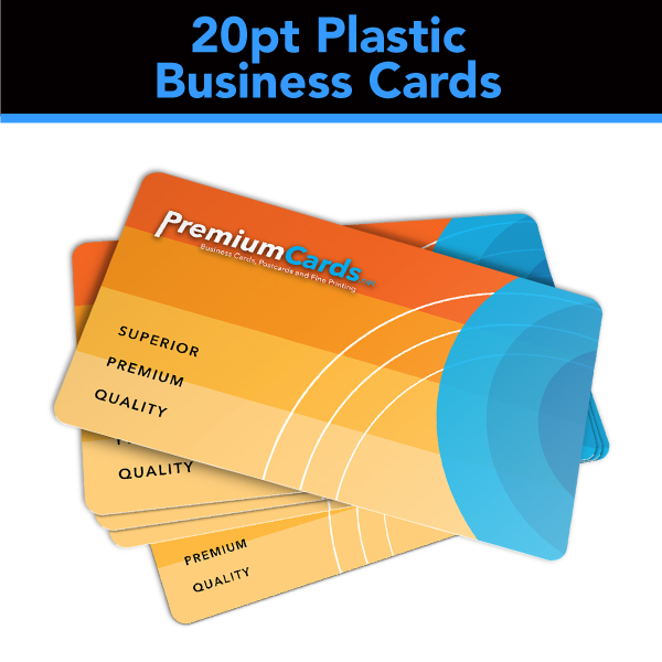 20pt Plastic Business Cards – 3 5×2 White – PremiumCards