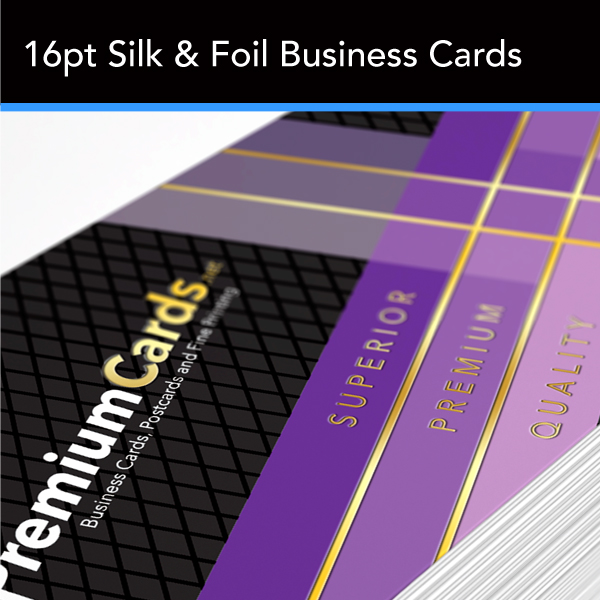 silk and foil business cards 16pt