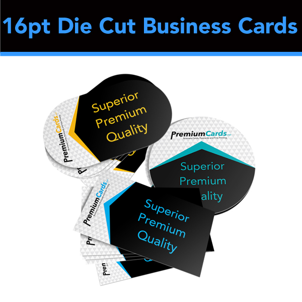 16pt Die Cut Business Cards