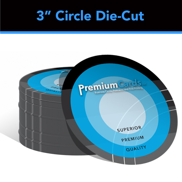 soft touch die cut business cards - Circle Business Cards