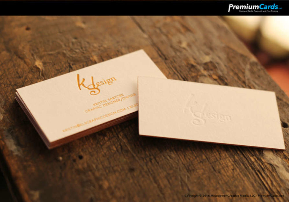 Thick Gold Foil Business Cards with Deboss – Premium Business ...