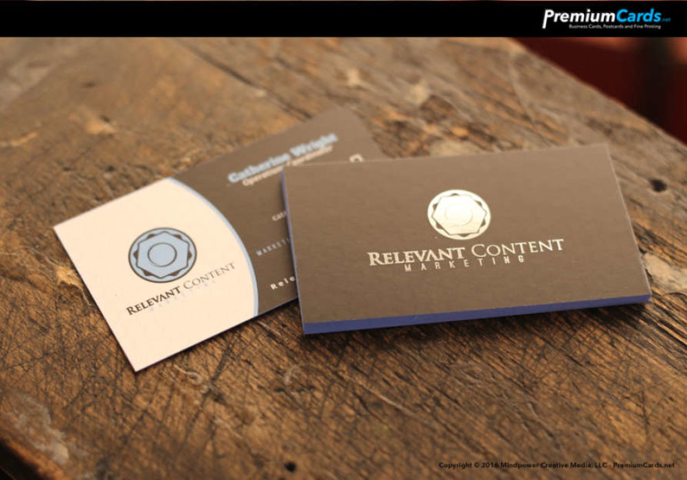 Silver Foil Business Cards – Premium Business Cards | PremiumCards.net