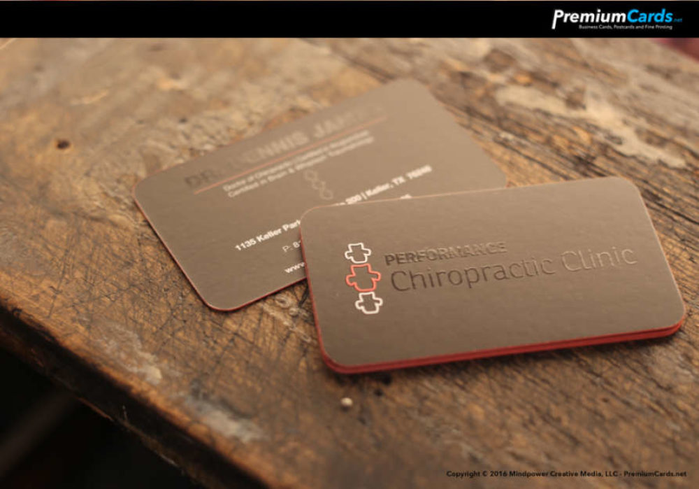 Silk Business Cards with Spot UV and Edge Paint | | PremiumCards.net