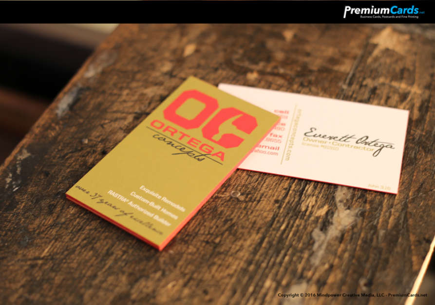 Uncoated Business Cards w/Edge Painting | Business Cards by ...