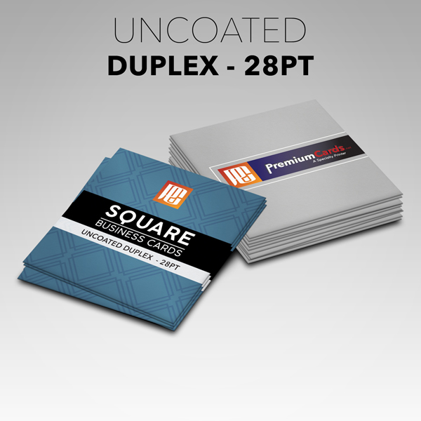 square uncoated duplex business cards 28pt
