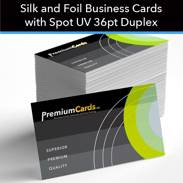 Silk and foil duplex business cards with spot uv 36pt silk foil business cards 36pt spot uv colourmoves