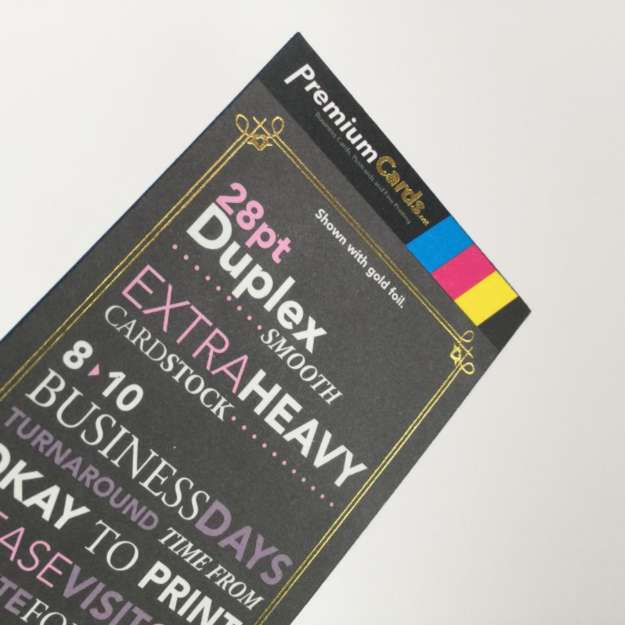 uncoated foil business cards