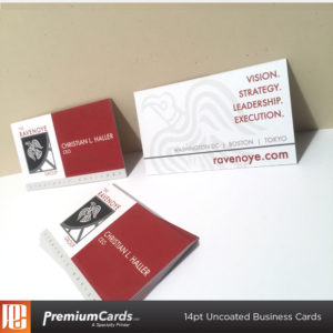 Premium business cards custom marketing materials uncoated business cards 14pt reheart Gallery