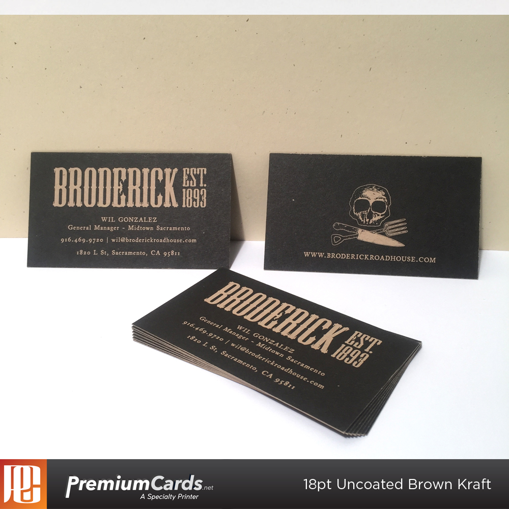 18pt uncoated brown kraft - Kraft Business Cards