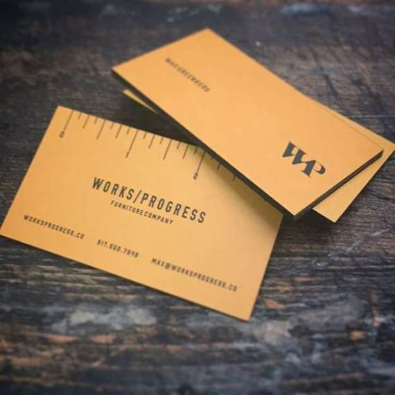 Premium Silk Business Cards with Black Edge Paint