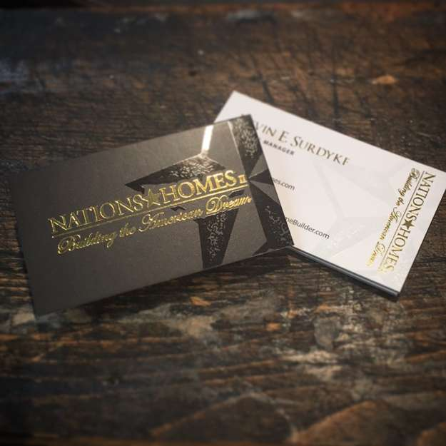 Silk And Foil Duplex Business Cards With Spot UV - 36pt