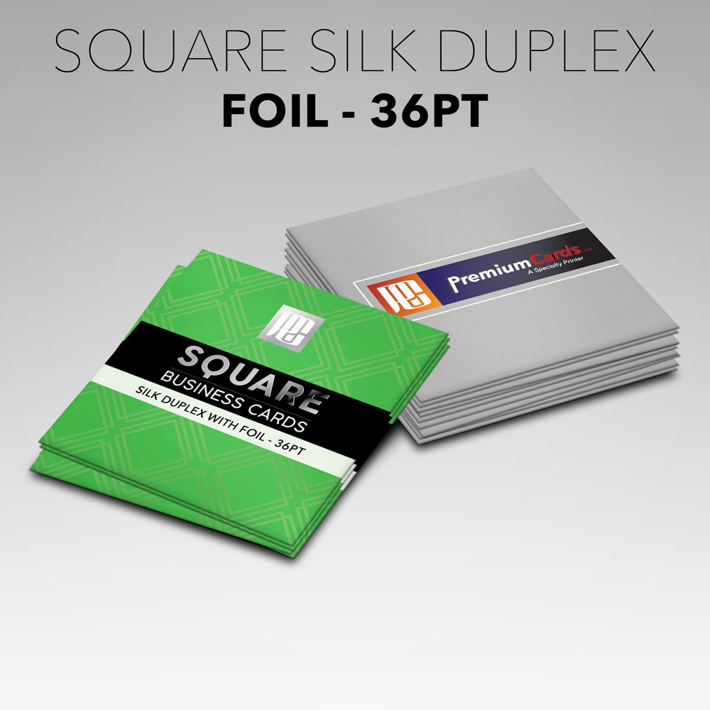 Square Silk Business Cards with Foil - 36pt | PremiumCards.net ...