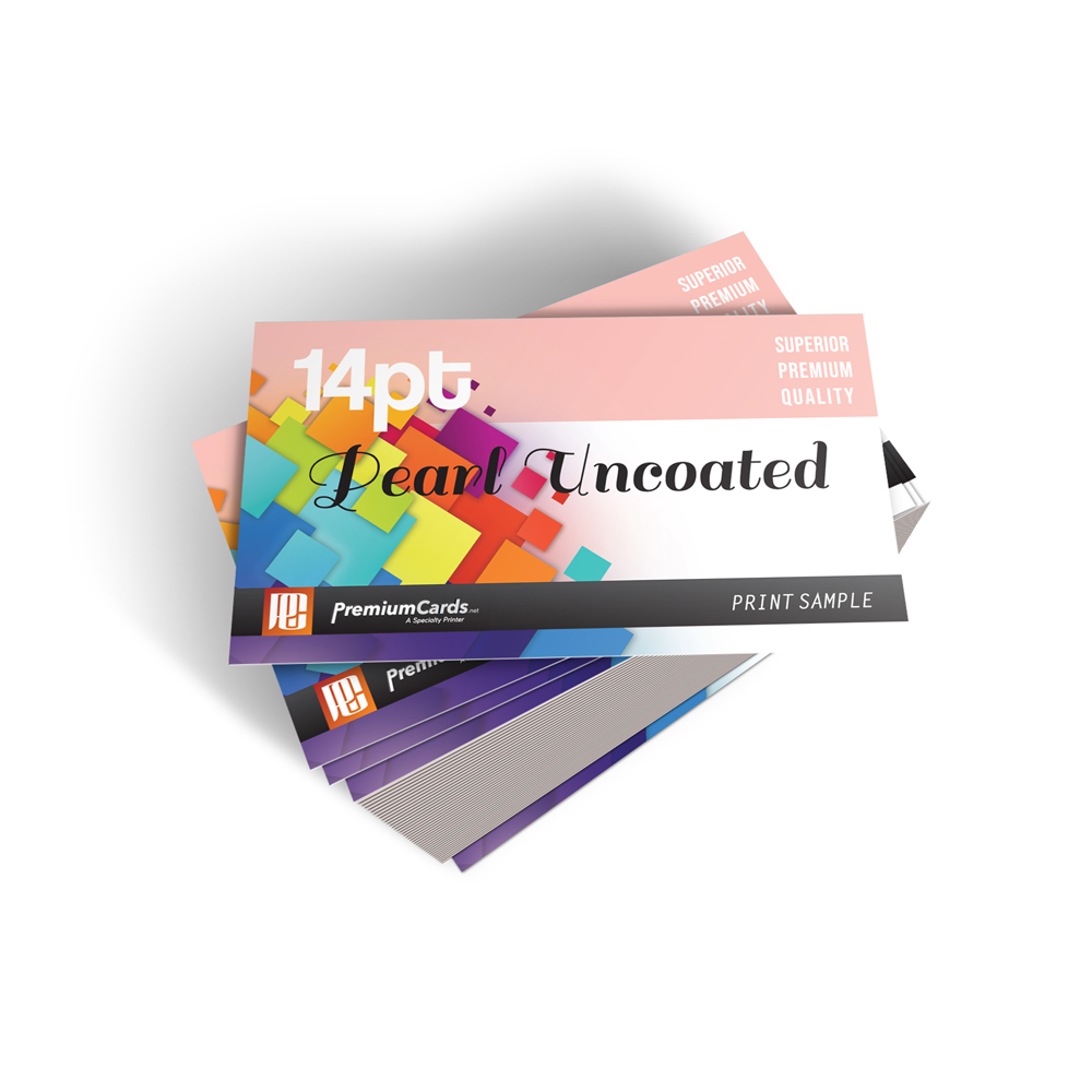 14pt Pearl Uncoated Business Cards | PremiumCards.net