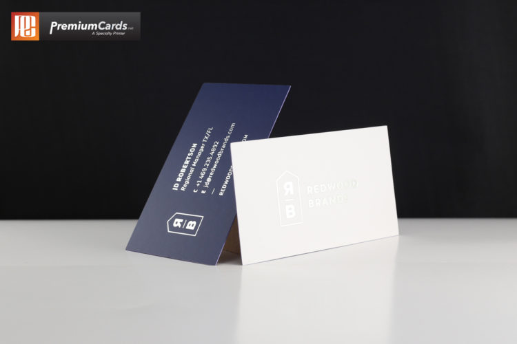 Silk And Foil Business Cards With Spot UV PremiumCards.net
